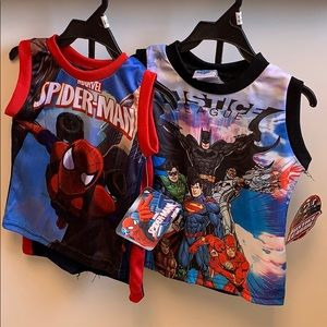 Bundle of two boys superheroes set